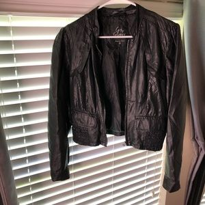G by Guess black leather jacket